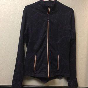 NEW Lululemon forme Jacket Purple Blk Gold Sz 10